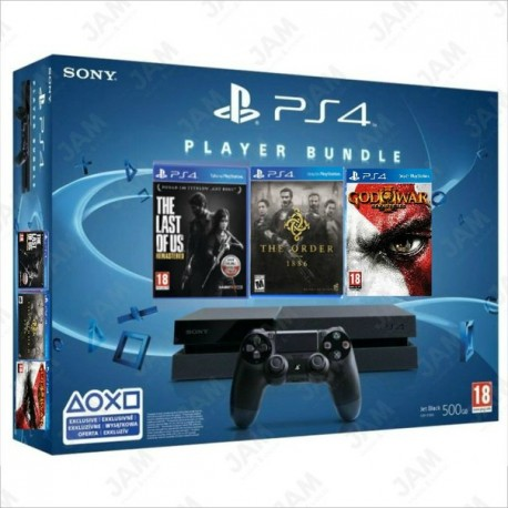 PlayStation4 + God of War 3+ The order 1886+ Driveclub