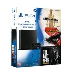 PS4 1000Gb + Uncharted +The last of us + god of war 3
