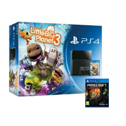 PS4 1000Gb + LittleBigPlanet 3 + Minecraft