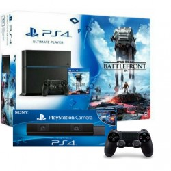 PS 4 + dualshock 4 x2 + camera +Star Wars Battlefront