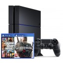 Sony PlayStation 4 1TB + GTA V + Witcher 3