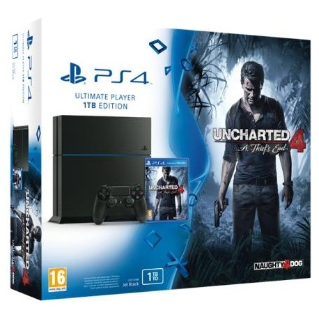 Sony PlayStation 4 1TB + игра Uncharted 4: Путь Вора