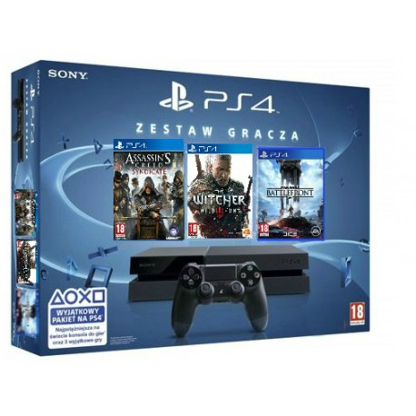 PS4 1TB + Assassins Creed Syndicate +Star Wars battlefront+The Witcher 3: wild hunt