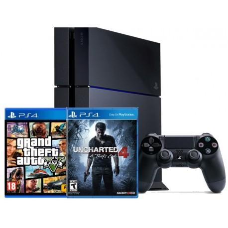 PS4 1TB + GTA V + Uncharted 4