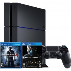 PS4 + Uncharted 4 + Mortal Kombat XL