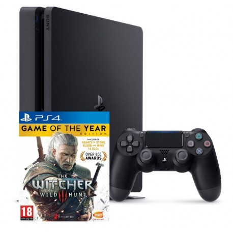 Sony PlayStation 4 Slim + Ведьмак 3 GOTY (CUH-2016)