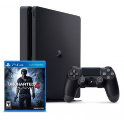 Sony PlayStation 4 Slim + Uncharted 4 (PS4, CUH-2016)