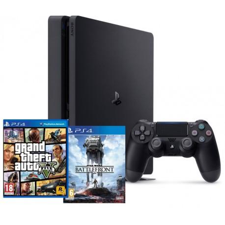 PS4 Slim + GTA V + Star Wars Battlefront