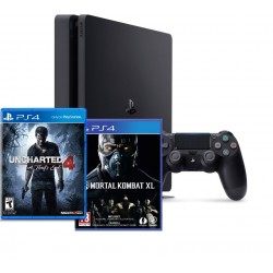PS4 Slim + Uncharted 4 + Mortal Kombat XL