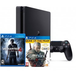 PS4 Slim + Uncharted 4 + Witcher 3 GOTY