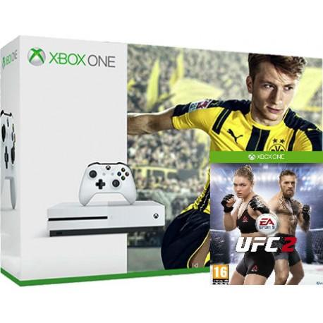 Xbox One S 500Gb + Fifa 17 + UFC 2