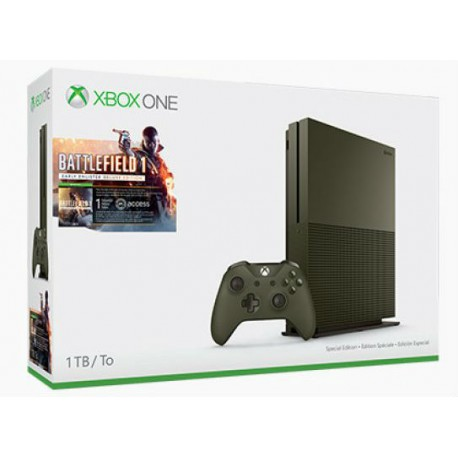 Xbox One 1TB + Battlefield 1 (military green)