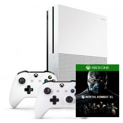 Xbox One S (два джойстика) + Mortal Kombat XL