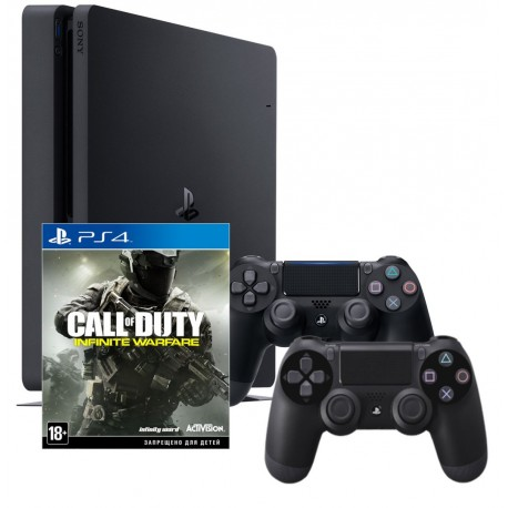 PS4 Slim + COD: infinite warfare + gamepadx2