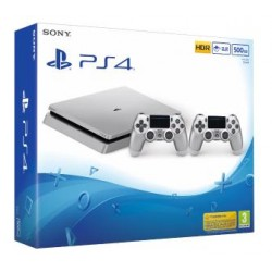 Sony Playstation 4 Slim 500Gb Limited Edition Silver (gamepad x2)