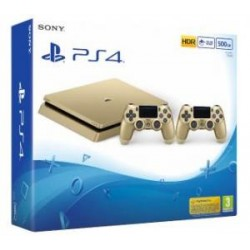 Sony Playstation 4 Slim 500Gb Limited Edition Gold (gamepad x2)