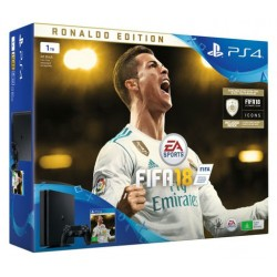 PS4 slim 1TB + fifa 18 (ronaldo edition)