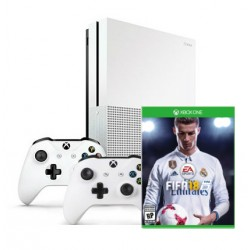 Xbox One S + Fifa 18+ gamepad x2