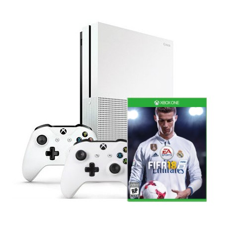 Xbox One S + Fifa 18+ gamepad x2