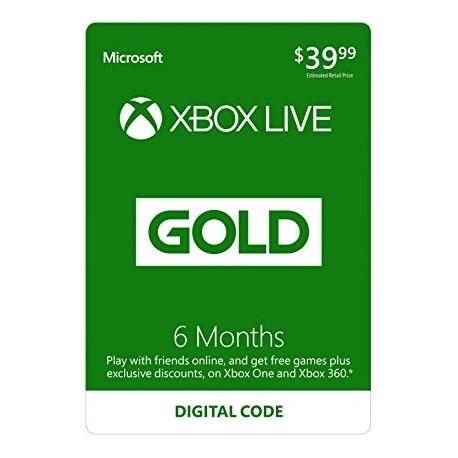 Xbox Live Gold 6m