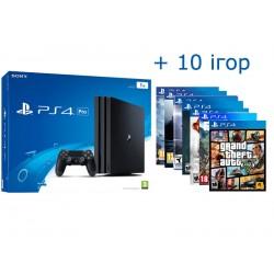 PS4 PRO + 10 игр