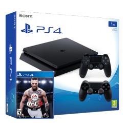PS4 Slim + UFC 3 + gamepadx2